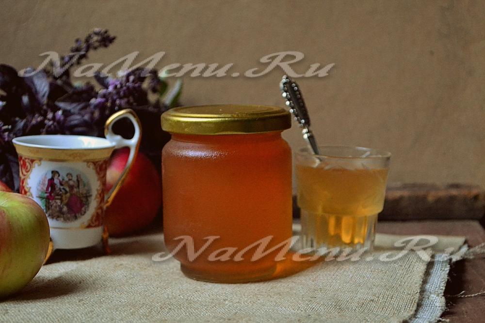 яблочное желе на зиму рецепт с фото