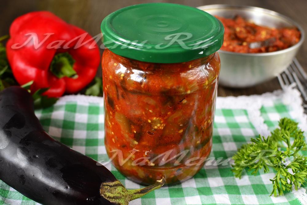 Как сделать баклажан с помидорами
