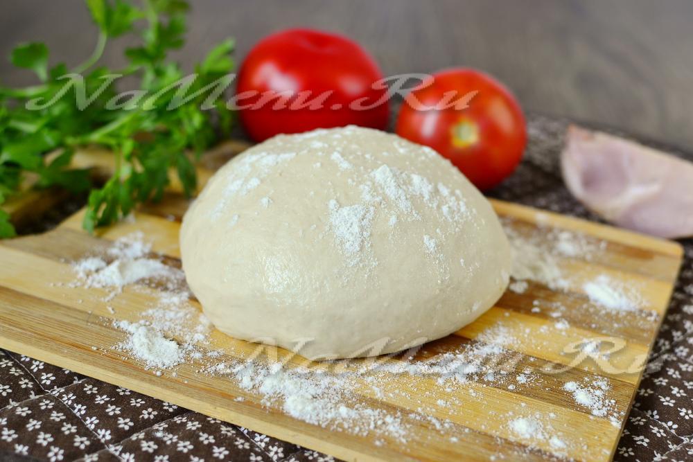 пицца тесто рецепт в домашних на воде