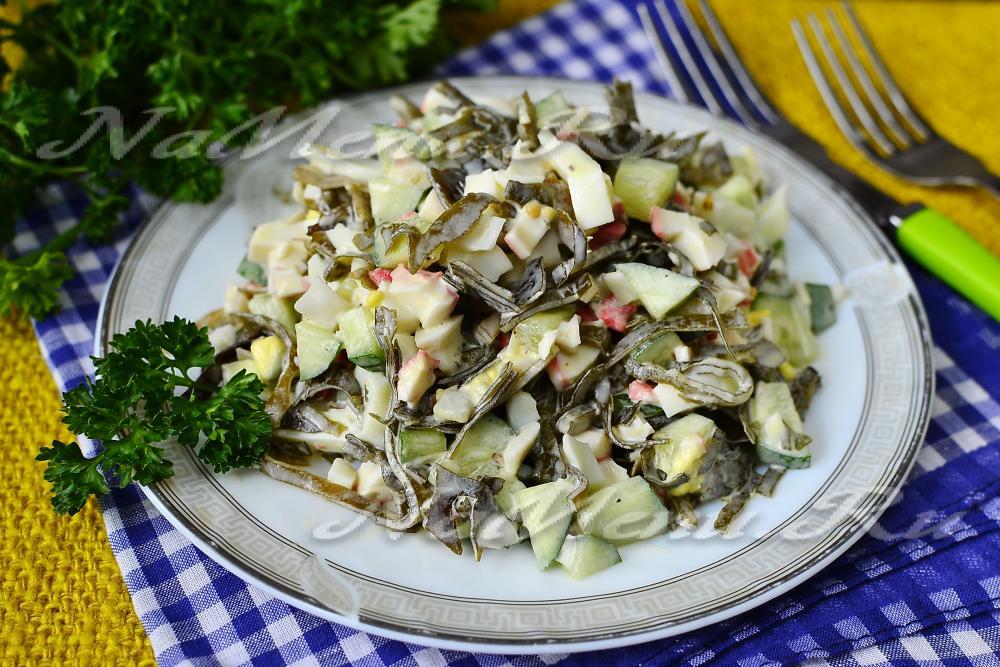 кукурузой Салат палочками крабовыми капустой заправленный с маслом морской
