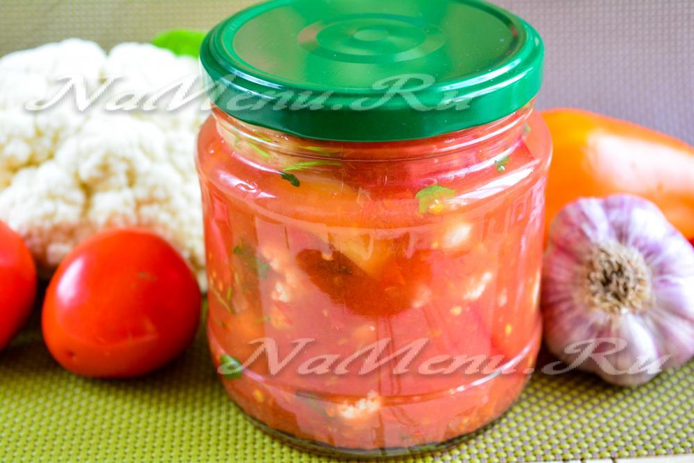 рецепт лечо из цветной капусты