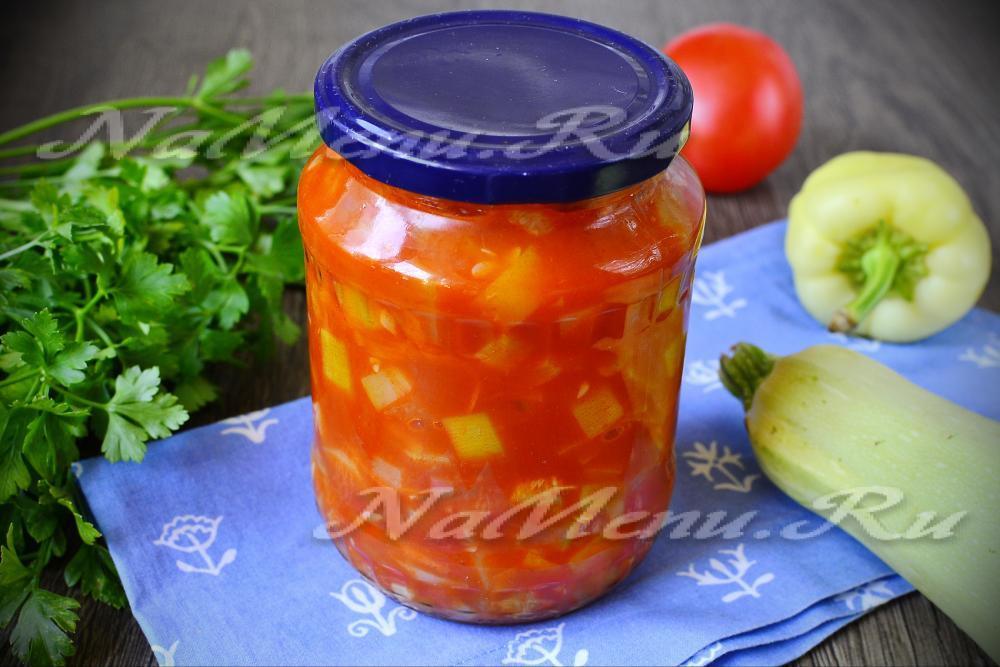 Лечо перец в томатной пасте на зимуы с фото