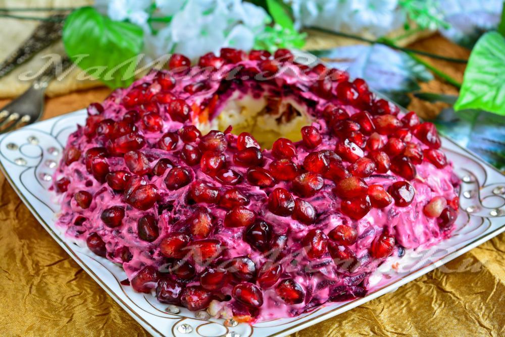 Рецепты салатов с гранатом