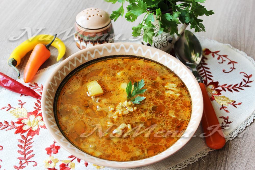 рецепт супа с бурым рисом
