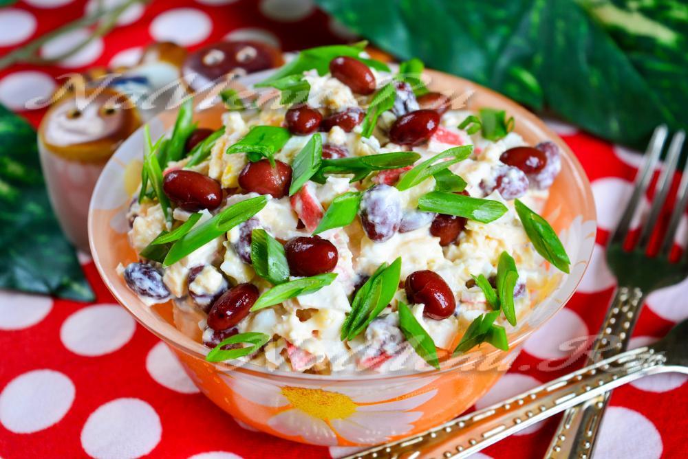 салат с вареной фасолью рецепт с фото очень