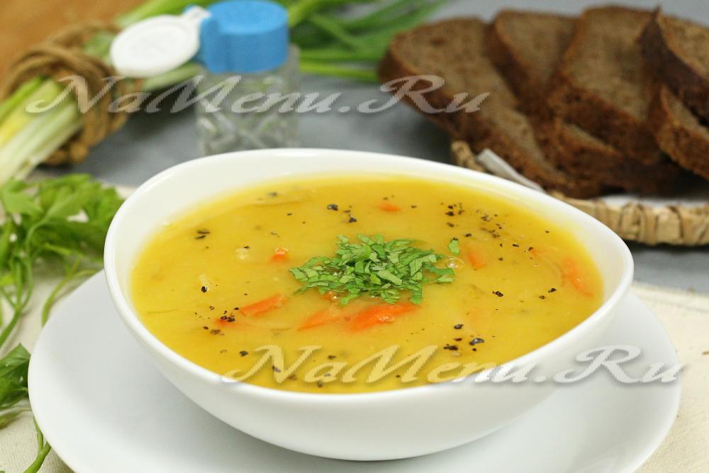 Гороховый суп с сыром рецепт с фото