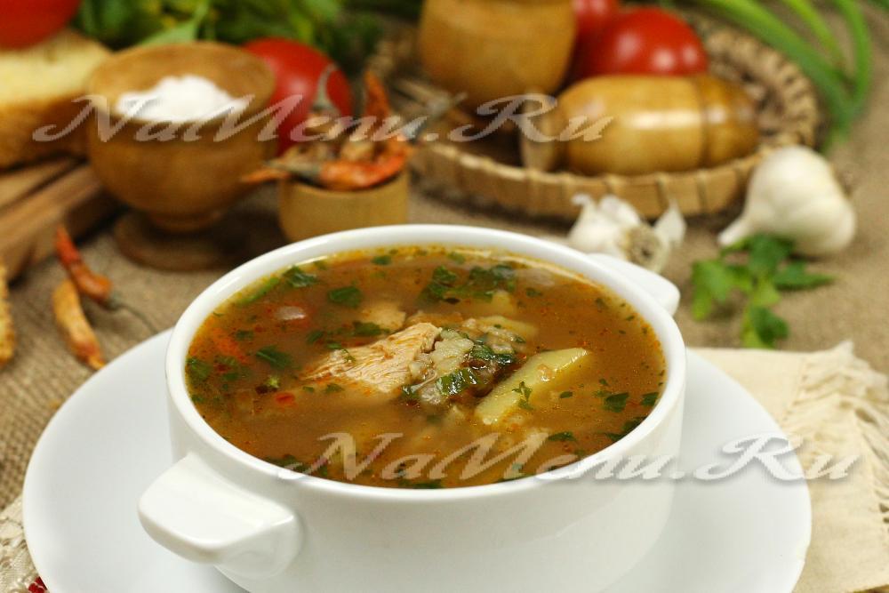 Пошаговый рецепт супа харчо с рисом и картошкой рецепт с