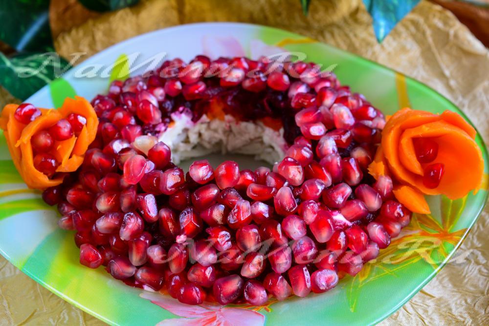 Кулинария салат гранатовый браслет с фото
