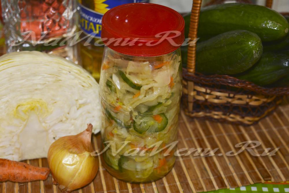 охотничий салат на зиму рецепт без капусты с