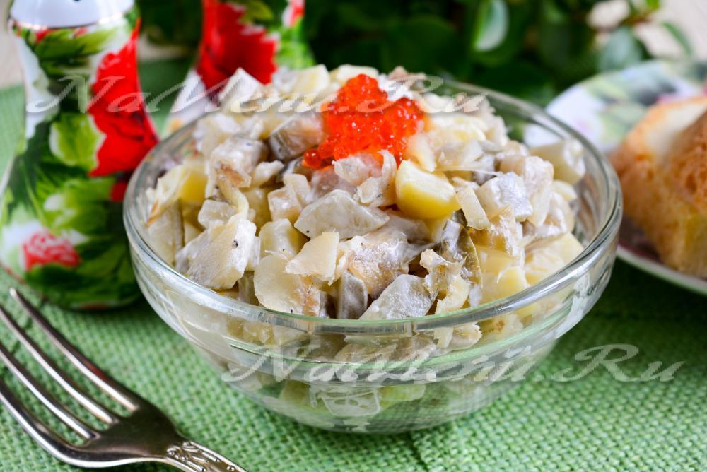 Рецепты салатов с из рыбы отварной