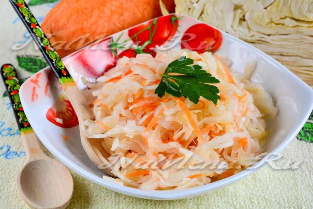 рецепт квашеной капусты домашней очень вкусной в банках