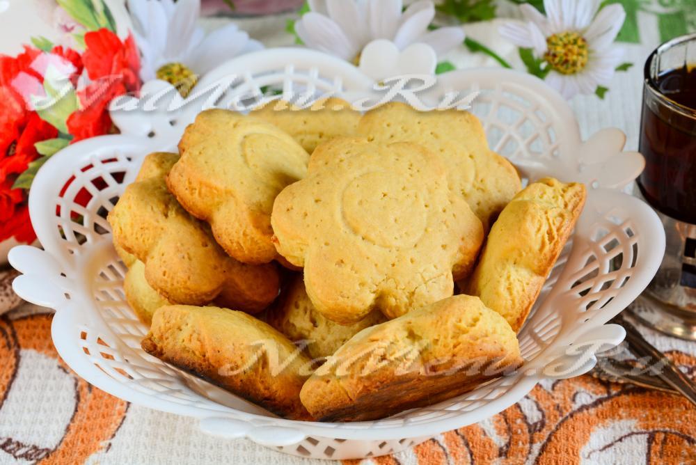 печенья в духовке рецепт песочные маргарине