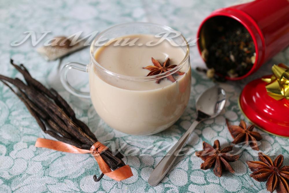Латте-чай с домашних условиях