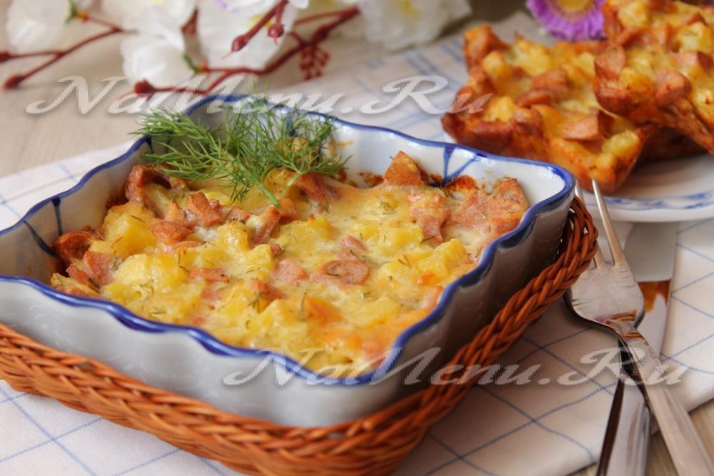 рецепты из картофеля с колбасой в мультиварке