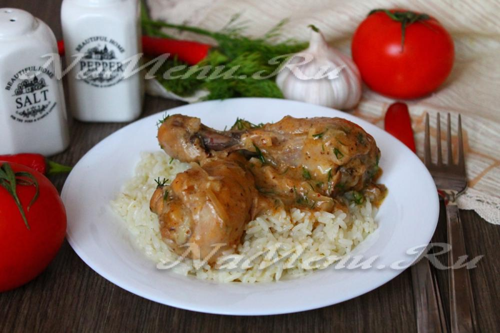 гедлибже курица в сметане по кабардински рецепт