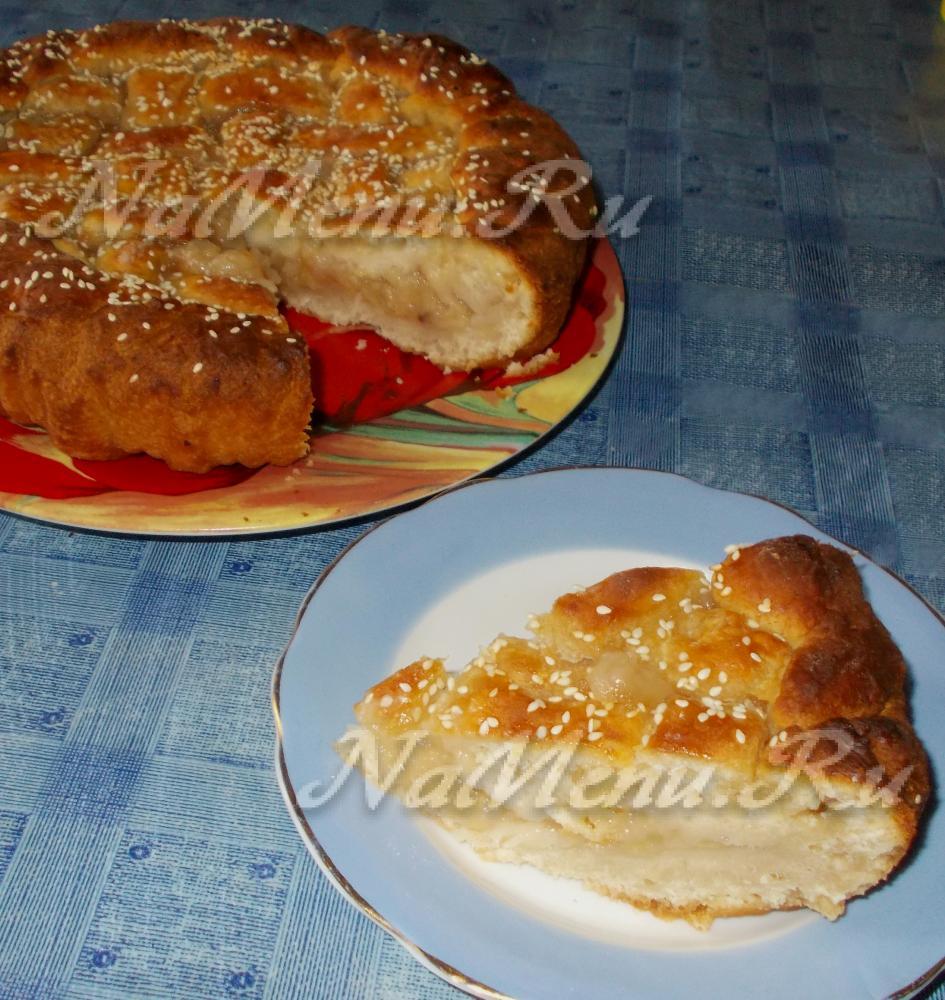 Пирог на молоке с фото пошагово в духовке