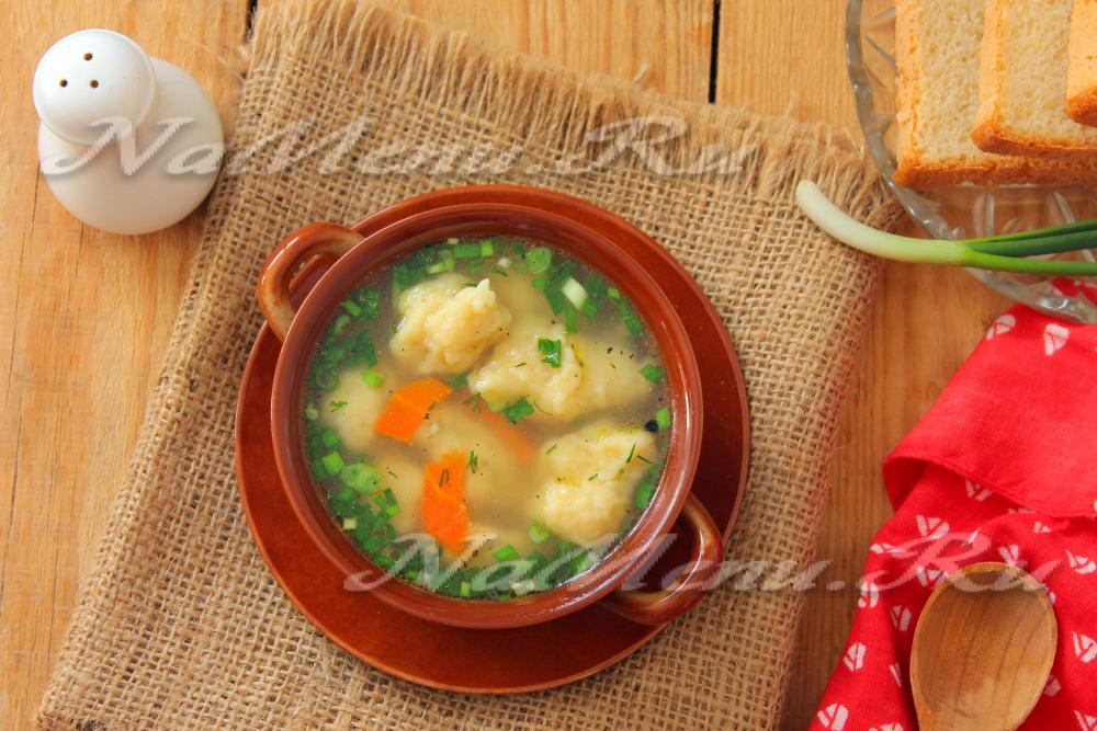 Суп с галушками пошаговый рецепт с курицей в мультиварке