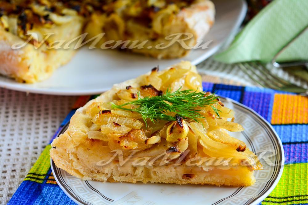 Пироги с картошкой и луком в духовке рецепт
