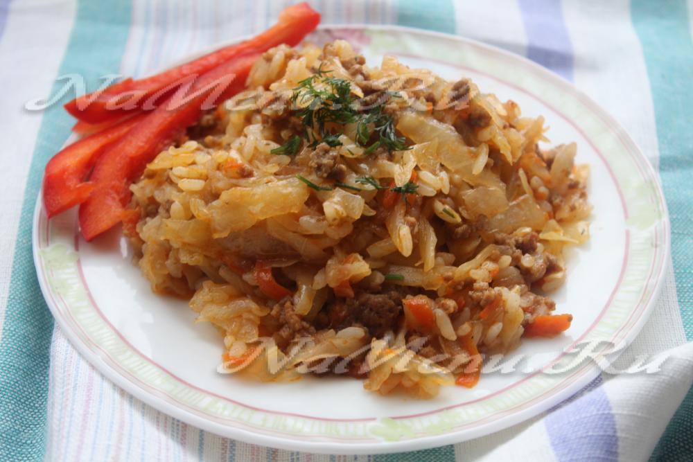 Ленивые голубцы рецепт с пошагово в мультиварке с рисом и фаршем