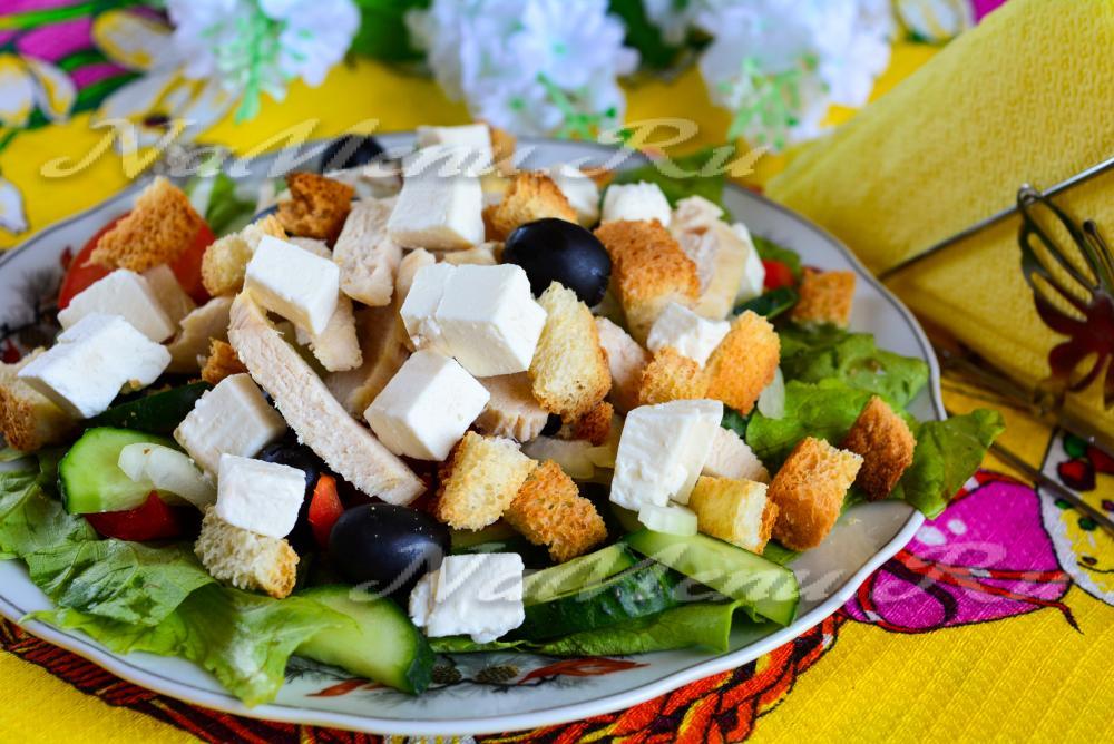 греческий сухариками рецепт фото