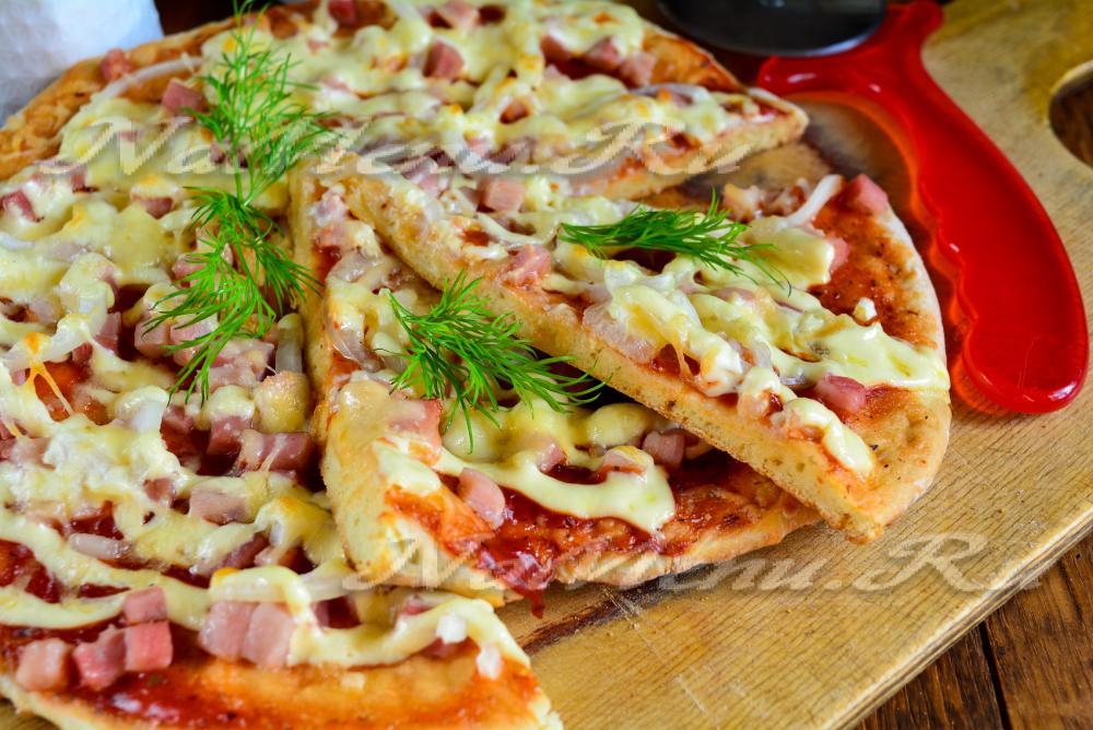 Пицца дома на кефире