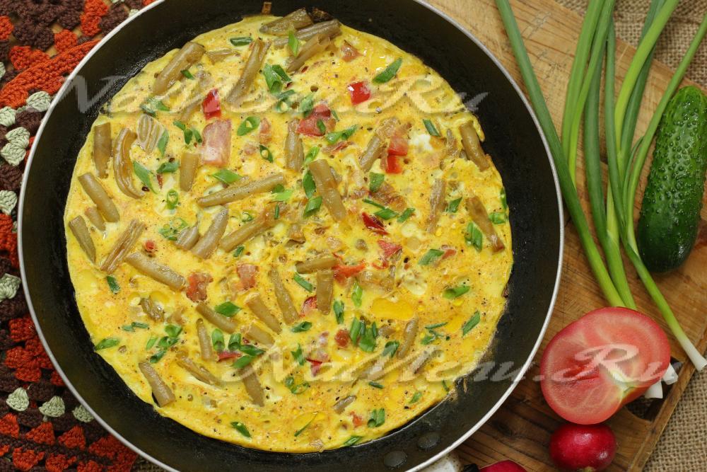 Фасоль с яйцом рецепт