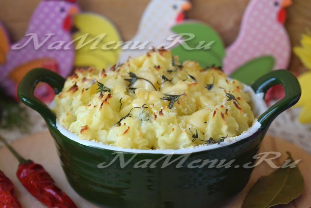 картофельная запеканка с фаршем в духовке рецепт с видео