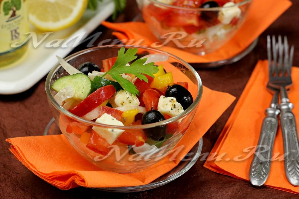 Как приготовить салат греческий рецепт с пошаговыми 5