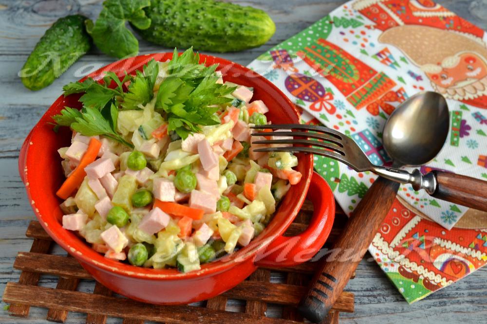 Салаты с колбасой вареной рецепты с простые и вкусные рецепты