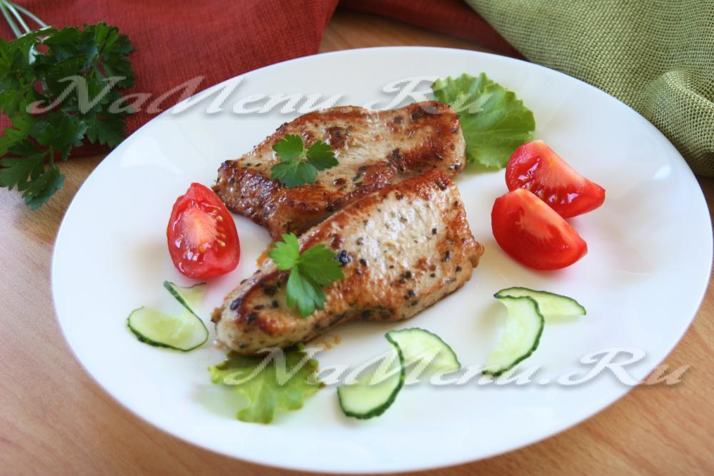 рецепт приготовления стейка из индейки на сковороде