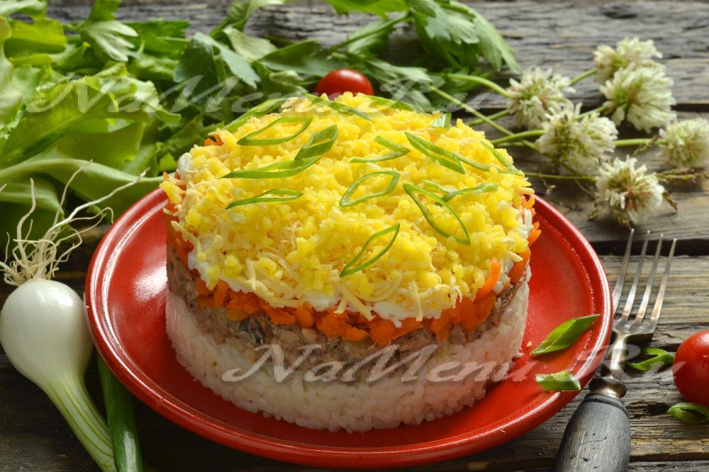 Мимоза салат с сыром