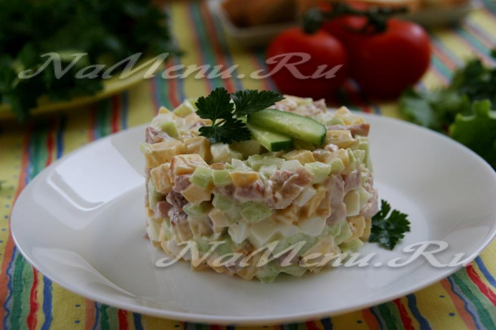 Салат нежный рецепт пошаговый