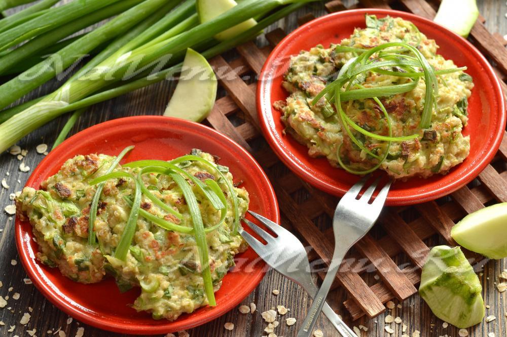рецепт оладьи из кабачков с овсяными хлопьями