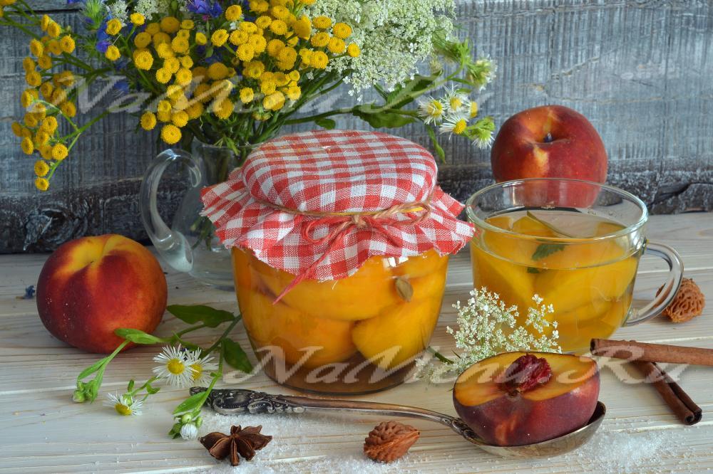 Компот из очищенных персиков на зиму рецепт