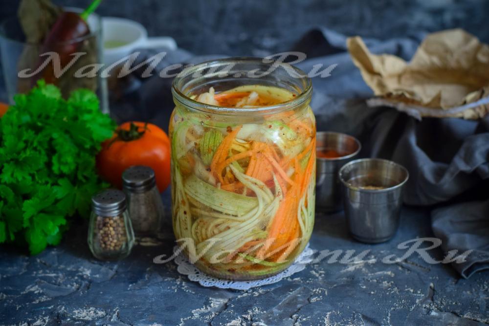 Кабачки по-корейски на зиму рецепты без лука