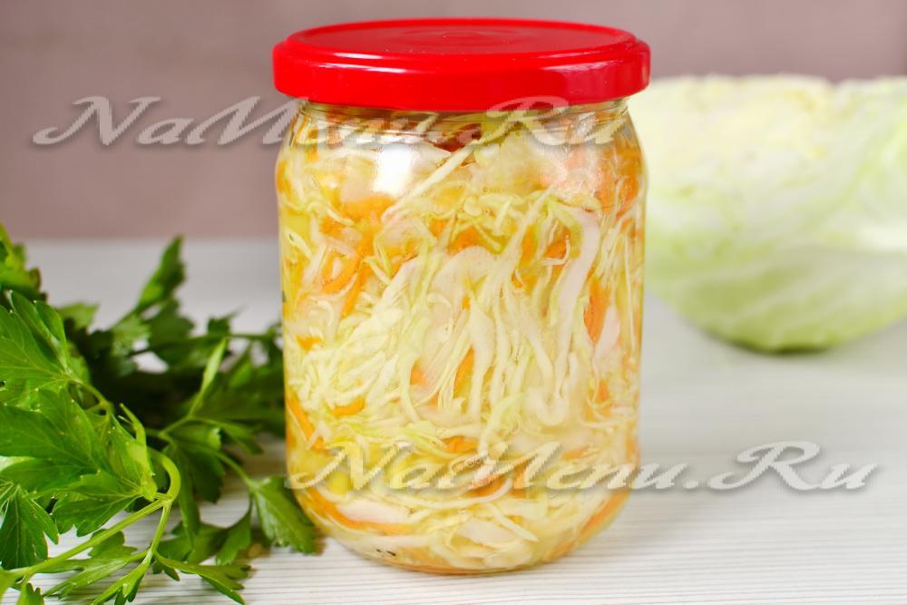 салат из капусты с болгарским перцем и морковью с уксусом