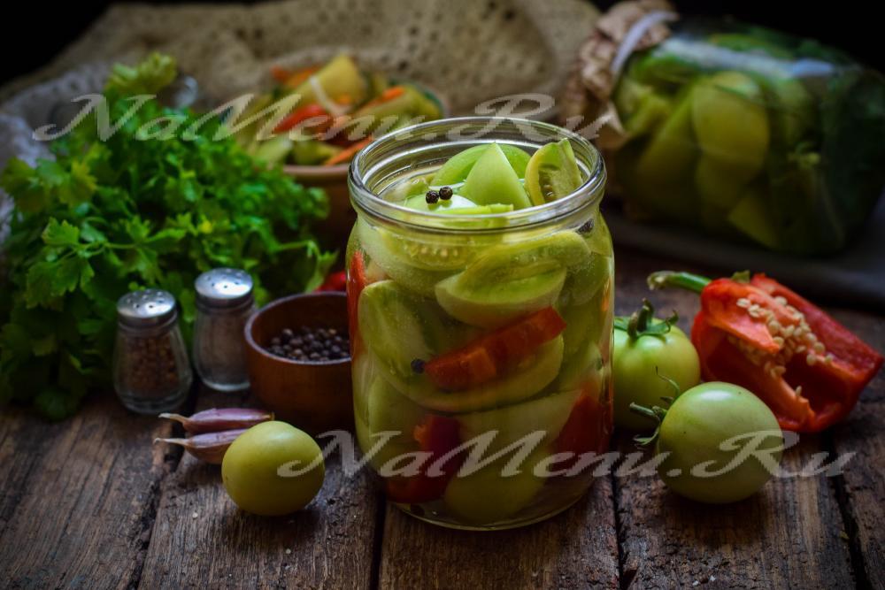 239Зеленые помидоры на зиму рецепты острые