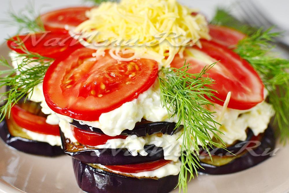 Торт из баклажан рецепт с помидорами