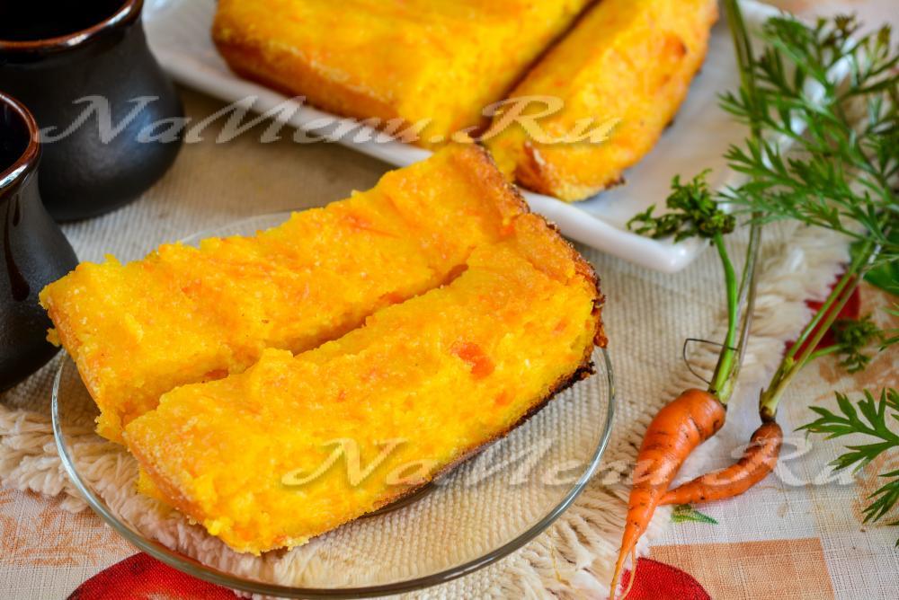 Морковная запеканка с творогом рецепт с пошагово в духовке