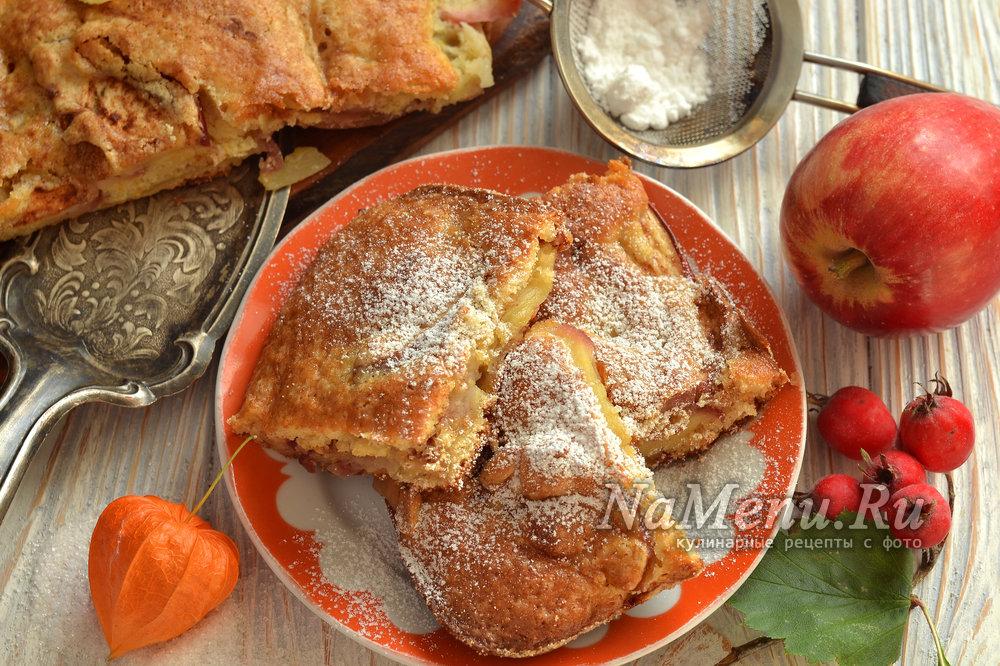 Шарлотка с яблоками рецепт с пошагово самый в духовке