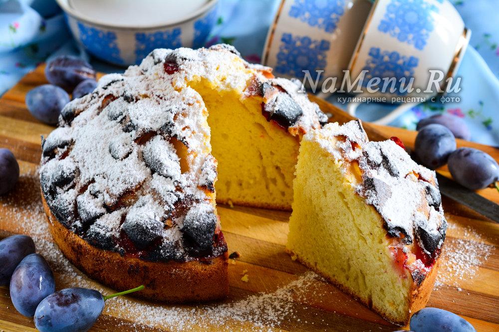 Пирог с свежим черносливом рецепт
