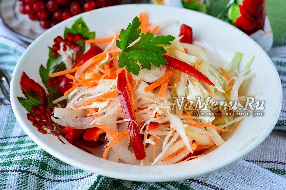 капуста лук морковь болгарский перец
