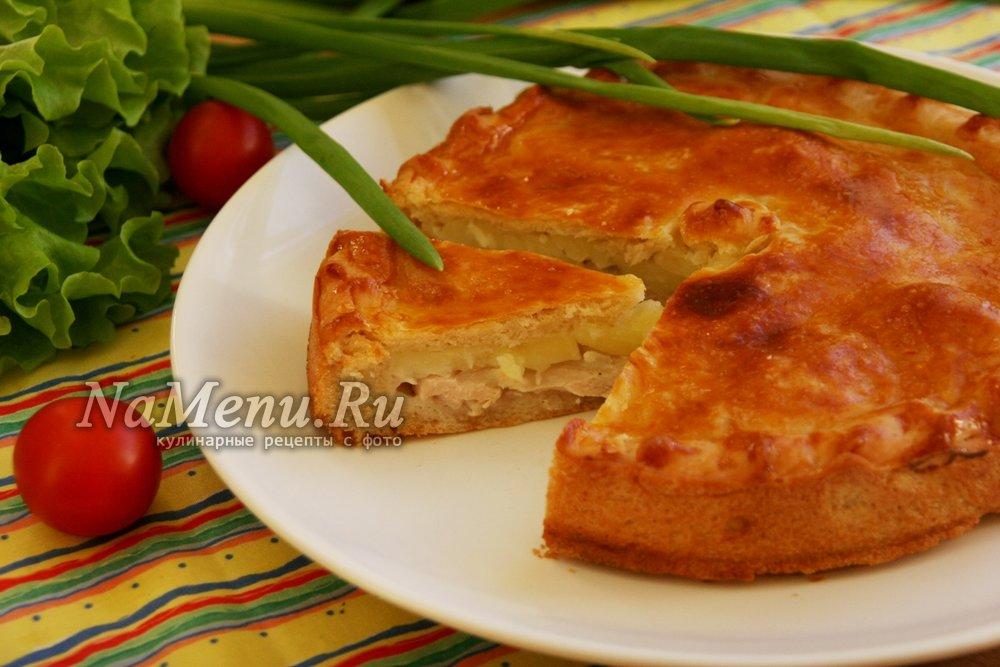 Пирог с курицей и картошкой пошаговый рецепт 30