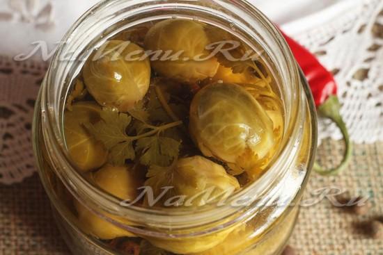 маринованная брюссельская капуста рецепт