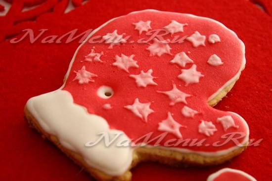 Рождественское печенье на ёлку