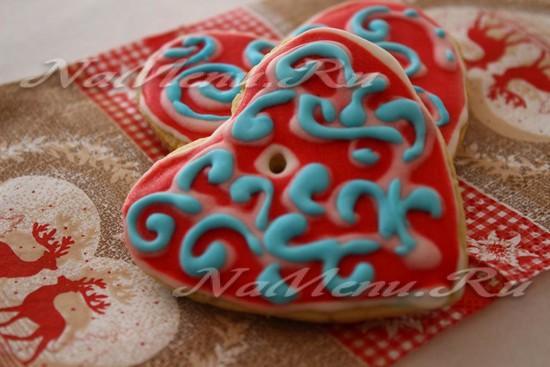 Рождественское печенье сердце