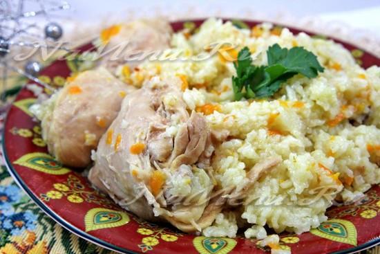 рис с мясом в мультиварке