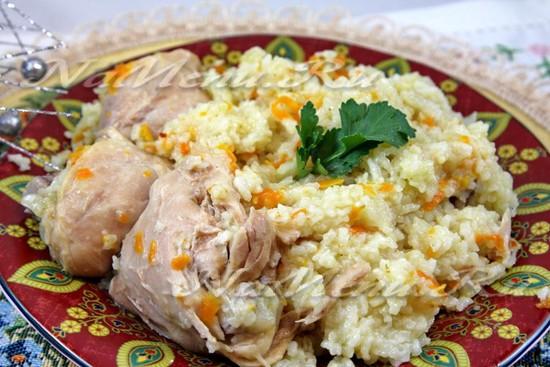 рецепт приготовления риса с курицей