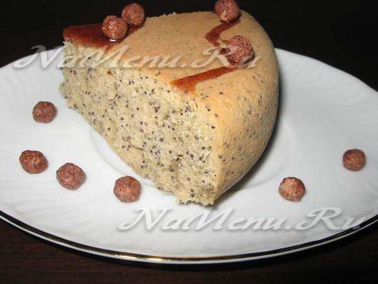 Пирог маком в мультиваркеы с фото