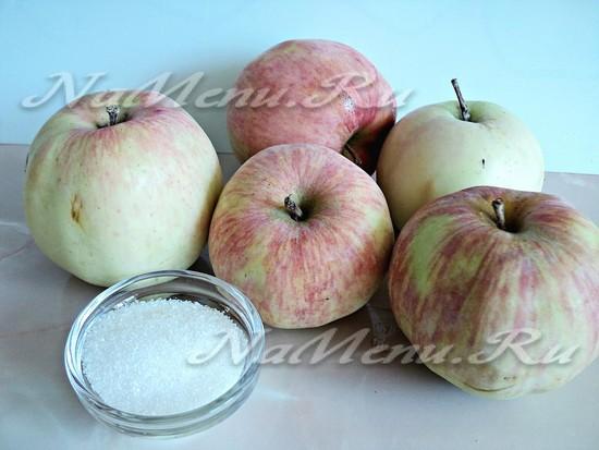 Ингредиенты для яблочного повидла
